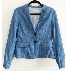 Kenar Chambray Denim Blazer Jacket